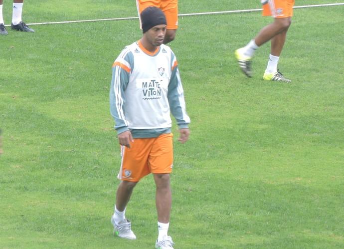 Ronaldinho Gaúcho treino Fluminense (Foto: Fred Huber)