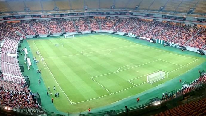 Arena da Amazônia Iranduba e Adeco-SP futebol feminino sub-20 (Foto: Marcos Dantas)