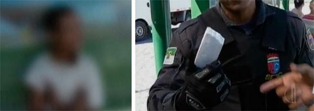 Adolescente tentou assaltar passageiros usando um pedaço de isopor como arma (Foto: Reprodução/Inter TV Cabugi)