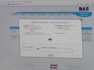 Informações não encontradas podem ser solicitadas no próprio site dos órgãos  (Foto: reprodução/TV Tem)