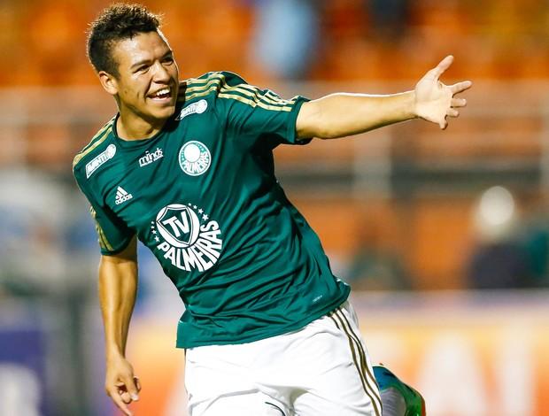 Marquinhos Gabriel gol Palmeiras (Foto: Piervi Fonseca / Ag. Estado)