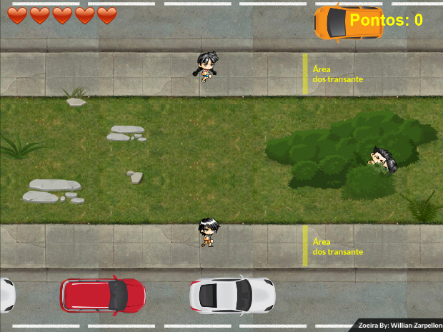 Objetivo do jogo é impedir que os pedestres atrapalhem os 'transantes' (Foto: Reprodução)