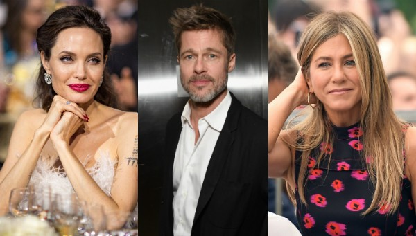 Angelina Jolie, Brad Pitt e Jennifer Aniston (Foto: Getty Images)