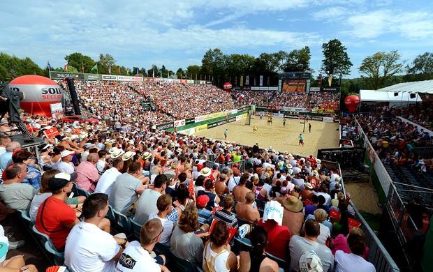 vôlei de praia arena Stare Jablonki (Foto: Divulgação / FIVB)