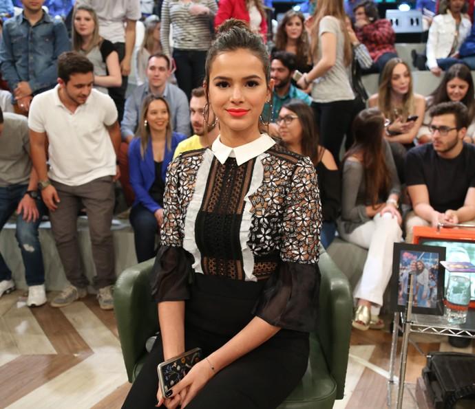 Bruna Marquezine participa da gravação do 'Altas Horas' (Foto: Carol Caminha/Gshow)