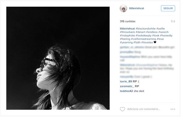 Cathriona White em sua conta no Instagram (Foto: Reprodução)