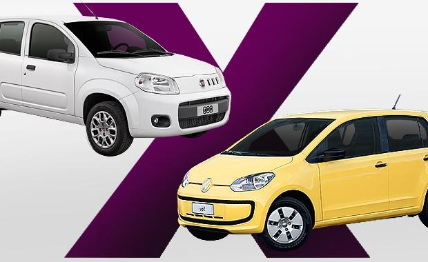 Fiat Uno ou VW up!: qual comprar? (Foto: Autoesporte)