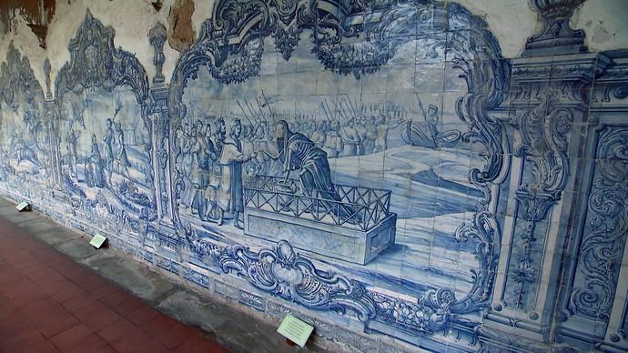 Série 'Heranças Coloniais' mostra azulejaria do Convento de São Francisco (Foto: TV Bahia)