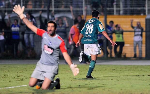 Charles gol Palmeiras Libertad Libertadores (Foto: Marcos Ribolli / Globoesporte.com)