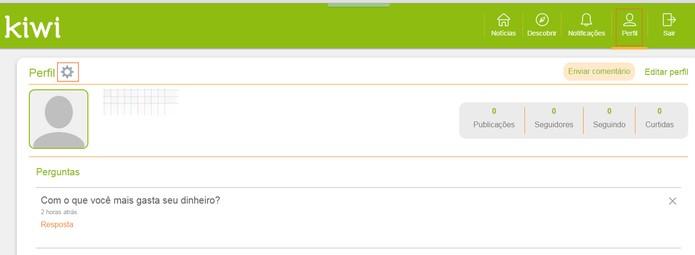 Site do Kiwi acessando o perfil do usuário (Foto: Reprodução/Barbara Mannara)