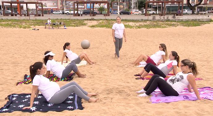 Os exercícios proporcionam uma gravidez mais saudável  (Foto: Divulgação / TV Gazeta ES)