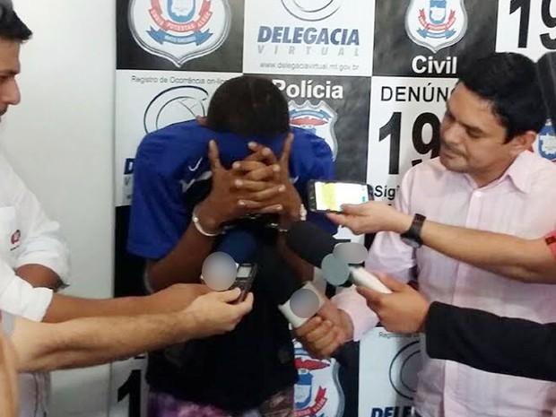 Ladrão que assaltou e agrediu idosa é preso em Lucas do Rio Verde (MT) (Foto: Assessoria/Polícia Civil de MT)