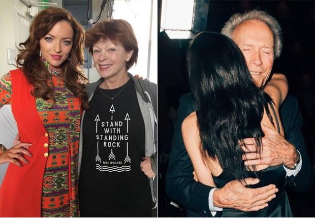 Francesca Fisher-Eastwood com os pais, Frances Fisher e Clint Eastwood (Foto: Reprodução/Instagram)