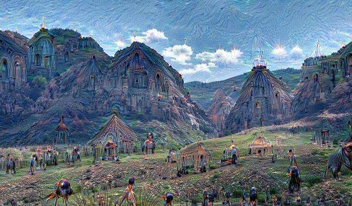 Mais um exemplo de imagem modificada pelo Google Deep Dream (Foto:Reprodução/Google)