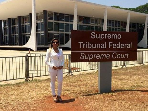 Advogada criminalista, Paloma tem clientes também em presídios federais (Foto: Paloma Gurgel/Arquivo Pessoal)