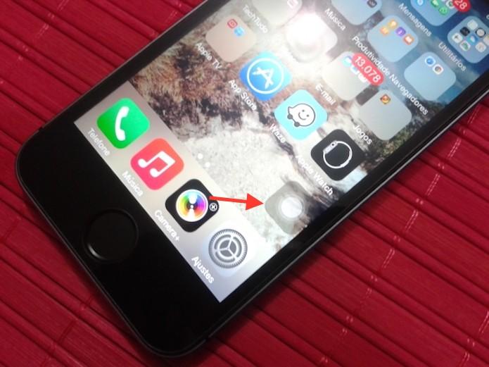 Visualizando as opções do Assistive Touch do iPhone (Foto: Reprodução/Marvin Costa)