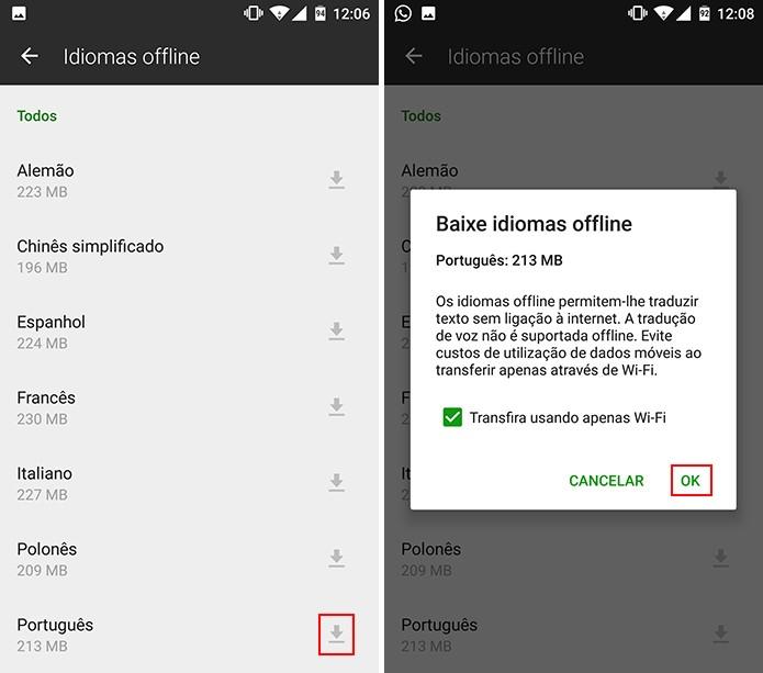 Microsoft Tradutor possui idiomas como Português e Inglês para ser usados offline (Foto: Reprodução/Elson de Souza)
