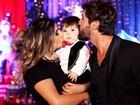 Sandro Pedroso e Jéssica Costa fazem festa pelo 1 ano do filho