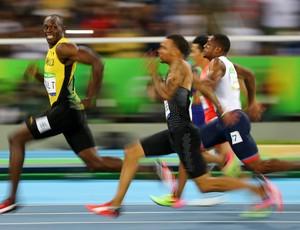 Usain Bolt na semifinal dos 100m