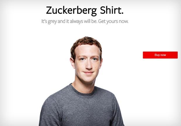Loja de camisetas de Zuckerberg (Foto: Reprodução)