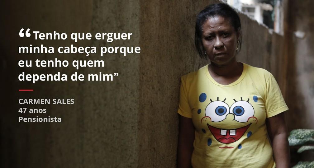 Carmen mostra desilusão com governantes (Foto: Marcos Serra Lima/G1)