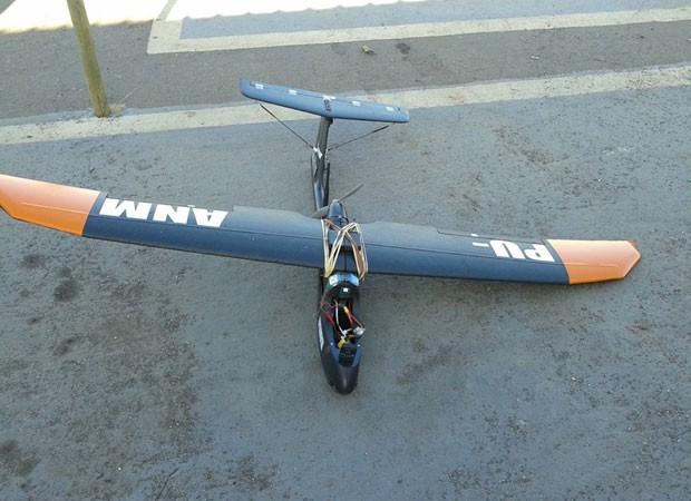 Drone do Departamento Nacional de Produção Mineral  (Foto: DNPM/divulgação)