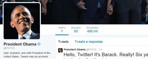 Barack Obama faz primeiro post em sua conta no Twitter (Foto: Reprotução/Twitter)