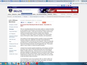 Página do consulado dos Estados Unidos na internet  (Foto: Reprodução )