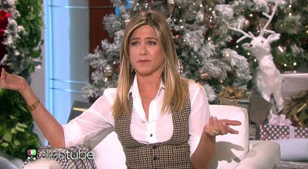Jennifer Aniston no programa de Ellen DeGeneres (Foto: Reprodução / YouTube)