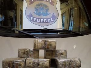 Dinheiro estava guardado em fundo falso de veículo (Foto: Divulgação Polícia Federal / MS)