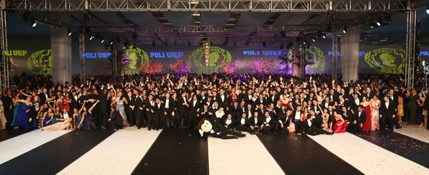 Cerca de 460 formandos participaram do baile de formatura da Poli-USP, em 22 de fevereiro (Foto: Divulgação/ÁS Formaturas – Enjoy/Julio Fugimoto)
