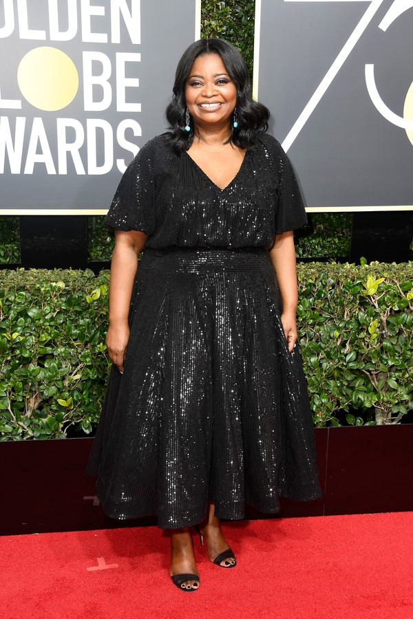 BEVERLY HILLS, CA - JANUARY 07:  Actor Octavia Spencer attends The 75th Annual Golden Globe Awards at The Beverly Hilton Hotel on January 7, 2018 in Beverly Hills, California.  (Photo by Frazer Harrison/Getty Images) (Foto: Getty Images)