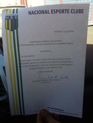 NEC homologou pedido de desistência (Foto: Divulgação)