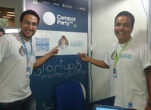 Bruno Ramos e João Pedro Netto, da Encontre um Nerd (Foto: Isabela Moreira)