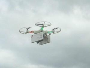 Drone levando medicamentos abortivos foi usado pela primeira vez em voo da Alemanha à Polônia (Foto: Divulgação)