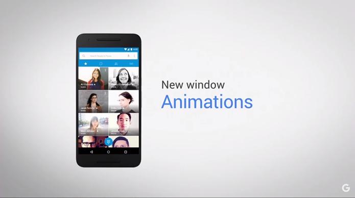 Material Design ganhou novas animações de notificações e abertura de apps (Foto: Reprodução/YouTube)