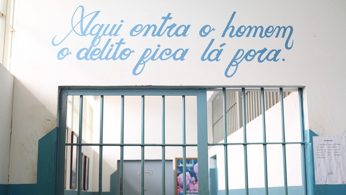 Apac Santa Luzia, onde Bruno está preso (Foto: Bernardo Pombo e Luiz Cláudio Amaral)