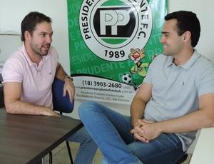 Marcelo Guimarães e Mateus Grosso, Presidente Prudente, PPFC (Foto: Ive Rodrigues / GloboEsporte.com)