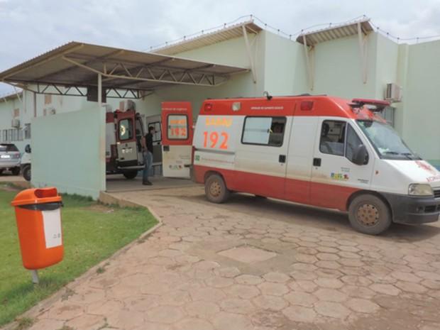 Menina foi levada para Unidade de Pronto Antendimento da região (Foto: Blogbraga/Repórter Edivaldo Braga)