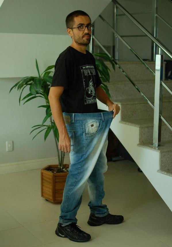 Eduardo perdeu 33kg quando voltou a pedalar (Foto: Arquivo pessoal)