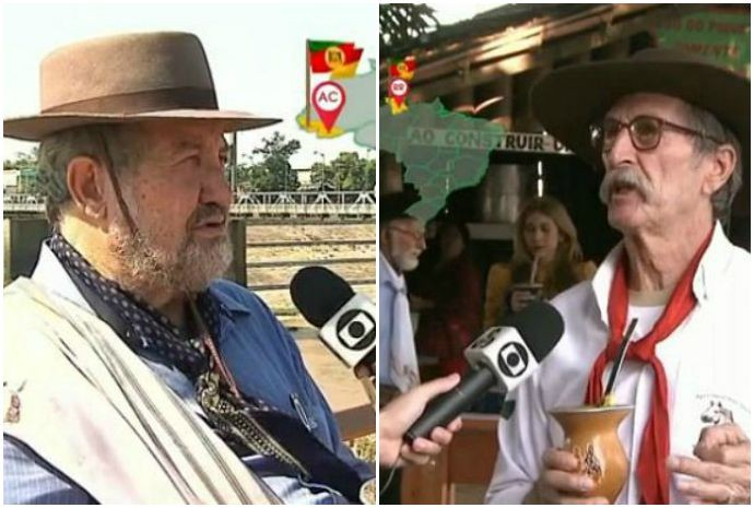 Gaúchos que moram no Acre e em Roraima participam do 'Encontro' (Foto: Reprodução/ Encontro com Fátima Bernardes)