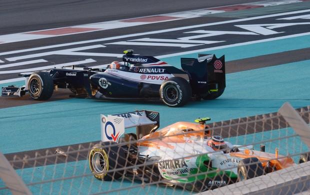 Hulkenberg bruno senna Dhabi dabi fórmula 1 (Foto: AFP)