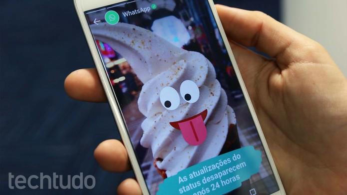 WhatsApp Status [com marca] (Foto: João Balbi/TechTudo)
