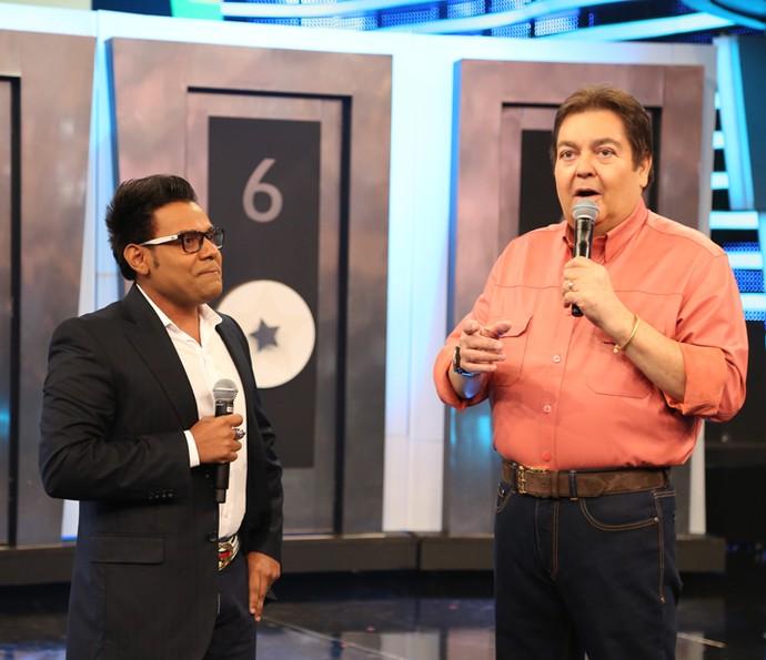 Pablo participa do 'Domingão do Faustão' (Foto: Carol Caminha/Gshow)