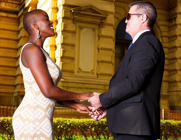 Angélica Ramos e o noivo, Laurent Mougeot (Foto: Yuri Martini)