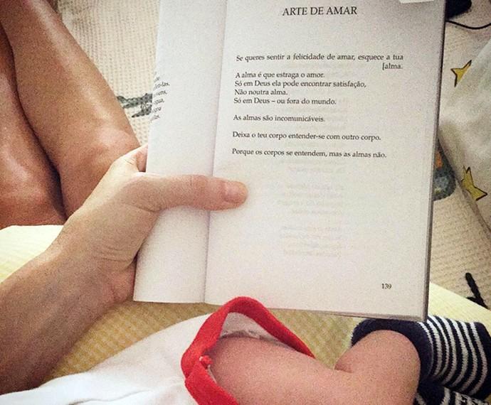 Luana voltou a ler (Foto: Arquivo Pessoal)