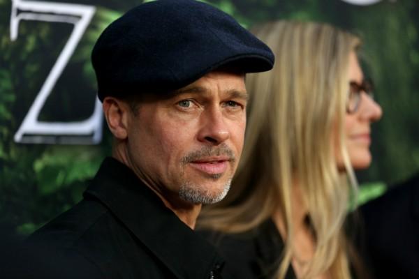 Brad Pitt durante pré-estreia de filme, em Nova York (Foto: Getty)
