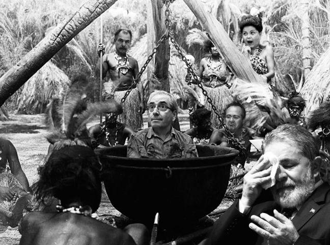 Eduardo Cunha no caldeirão (Foto: Arte: Antônio Lucena)