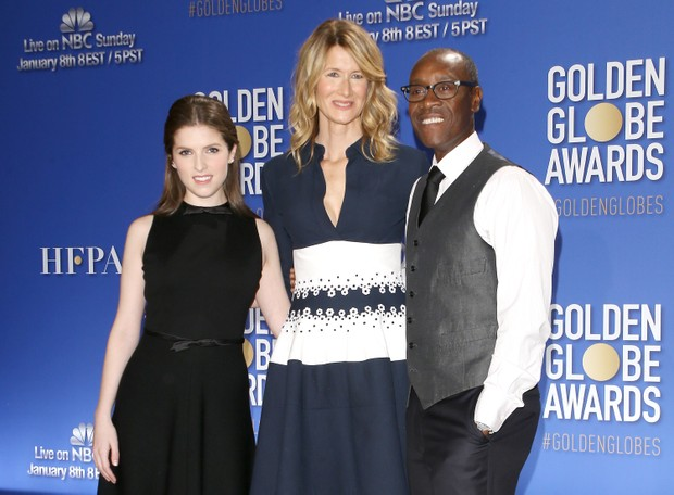 Anna Kendrick, Laura Dern e Don Cheadle (Foto: Michael Tran/FilmMagic/Getty)