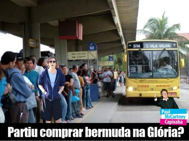 Partiu comprar bermuda na Glória? (Foto: Reprodução/ Facebook)